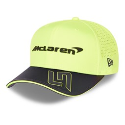 9FIFTY – McLaren – Lando Norris – Stretch-Snap-Kappe in Neongelb