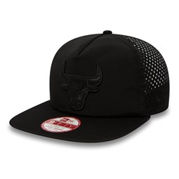Chicago Bulls Black on Black  Original Fit A Frame 9FIFTY Snapback