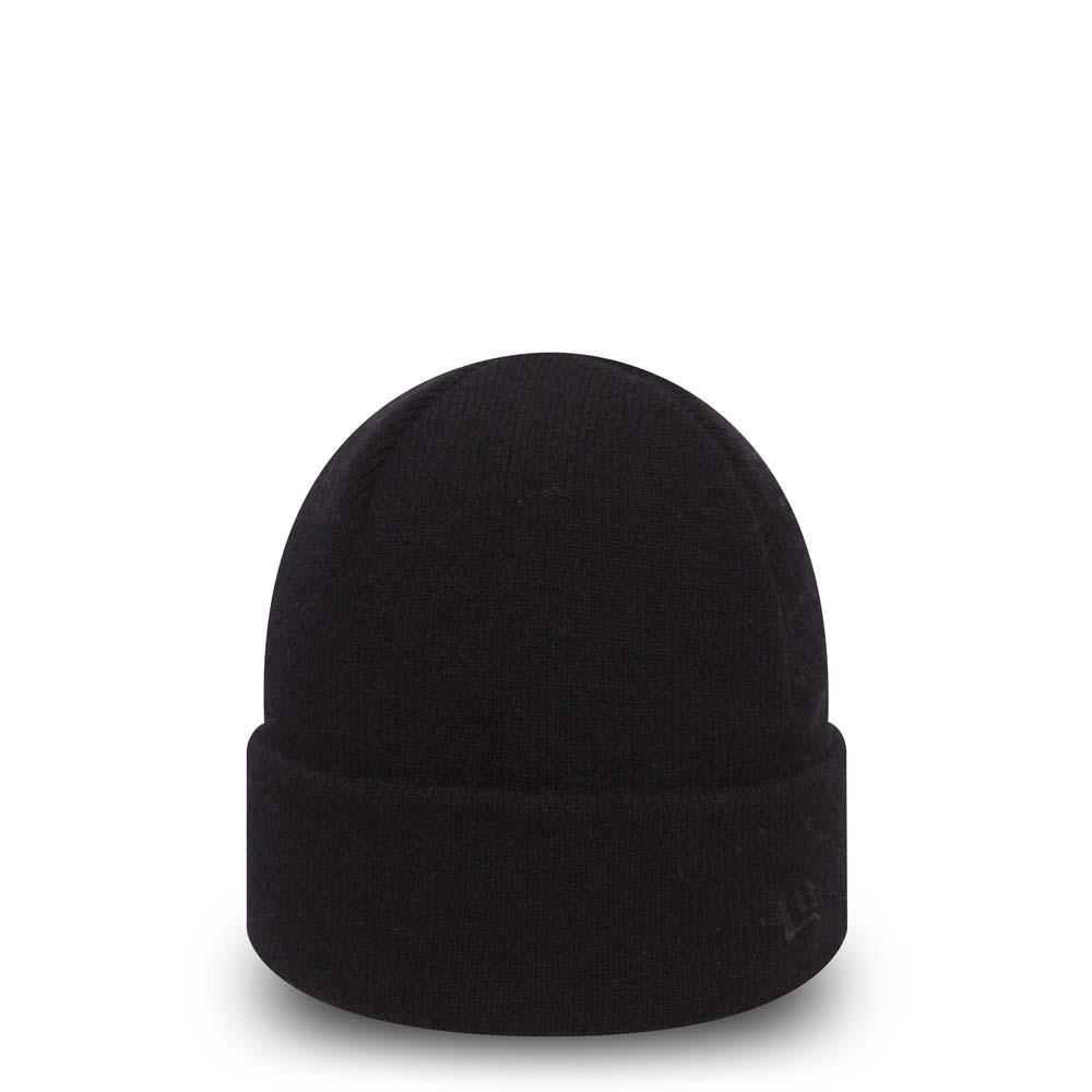 Bonnet à revers noir New Era Premium Classic