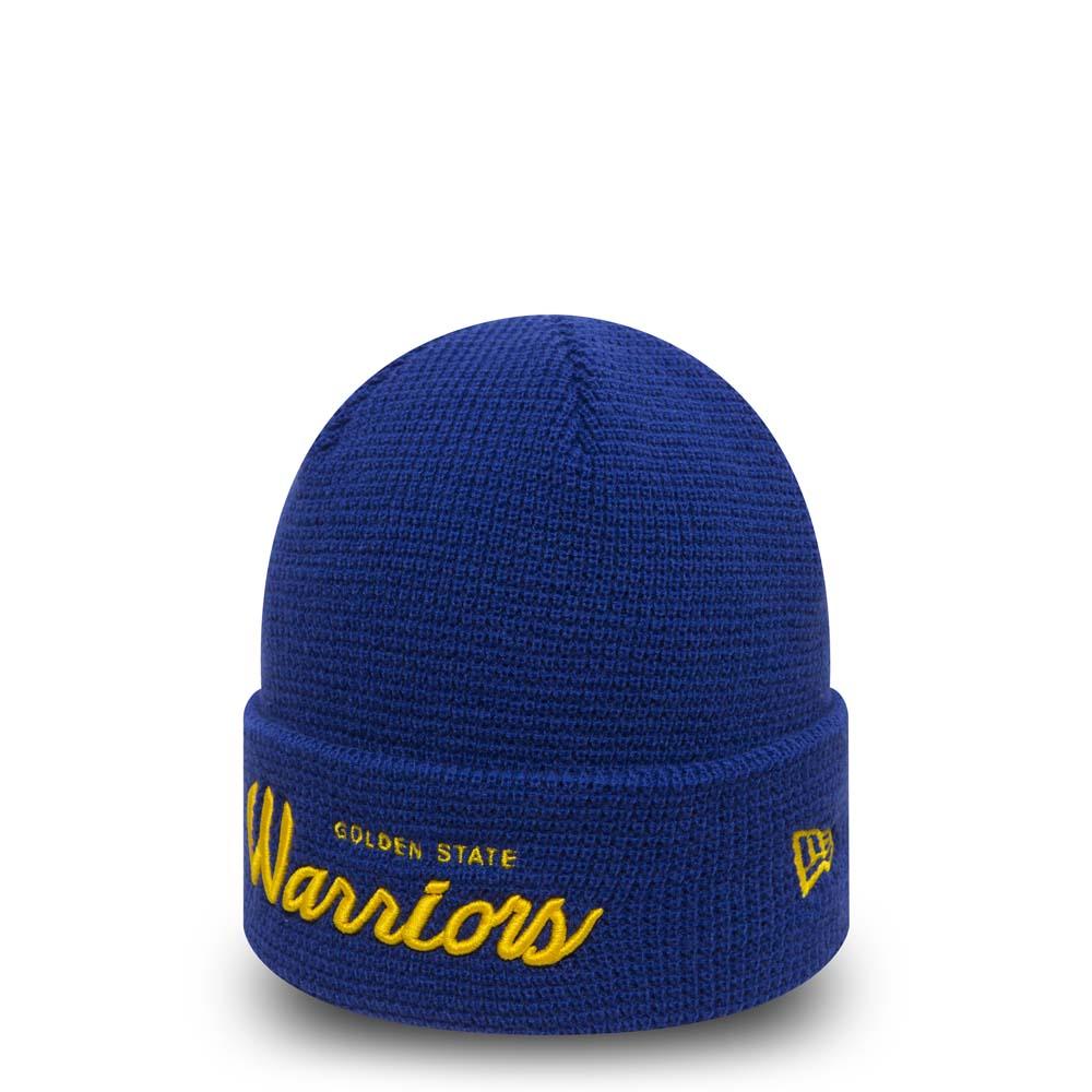 Bonnet à revers en maille gaufrée Golden State Warriors