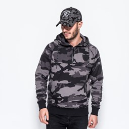 Oakland Raiders NTC Half Zipped Camo Hoody