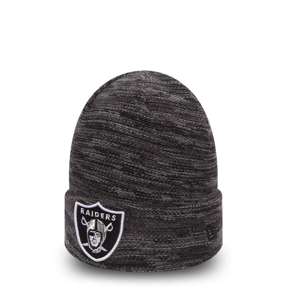 Oakland Raiders Shadow Tech Black and Graphite Cuff Knit