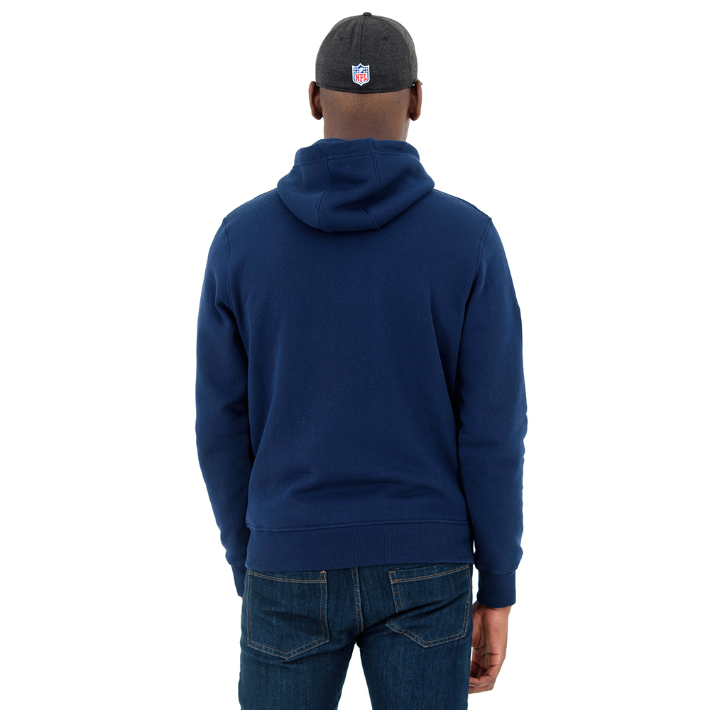 Sudadera estilo pulóver Seattle Seahawks Team Full Zipped, azul marino