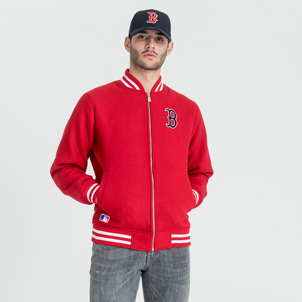 Boston Red Sox East Coast Red Bomber Jacket