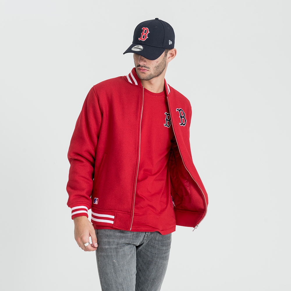 boston red sox east coast rote bomberjacke new era. Black Bedroom Furniture Sets. Home Design Ideas