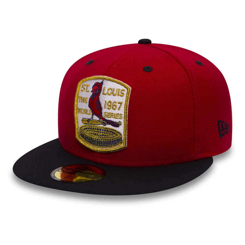 the best attitude fb95f 81217 ... germany st. louis cardinals 1967 world series patch red 59fifty 9b1e9  b5e88