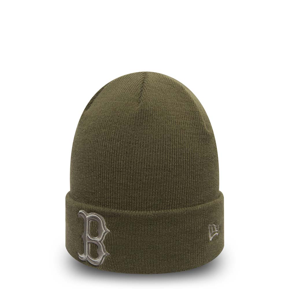 Gorro de punto con vuelta Boston Red Sox Essential, olive