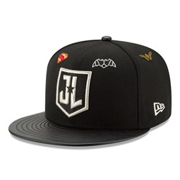 Justice League Logo 9FIFTY Snapback, negro