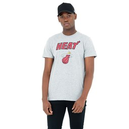 T-shirt Miami Heat gris chiné