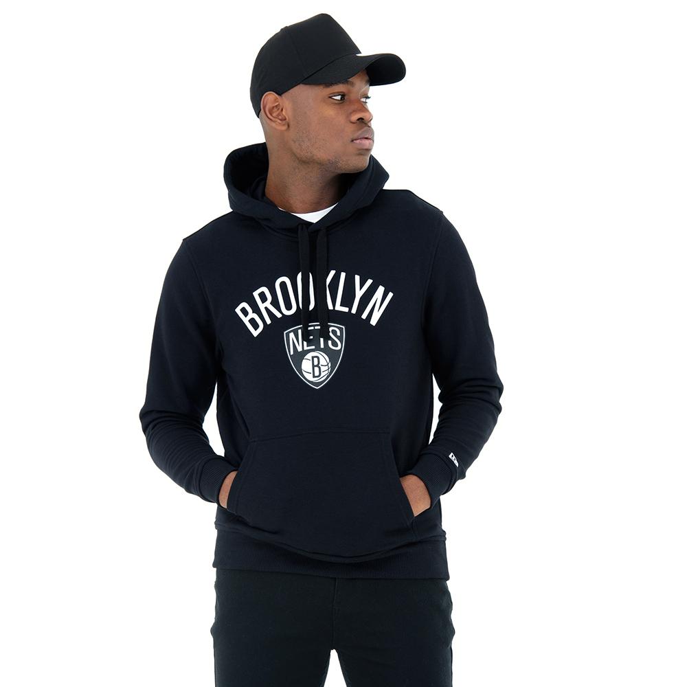 Sudadera estilo pulóver Brooklyn Nets, negro