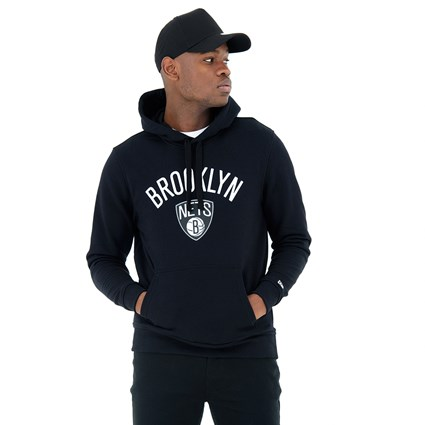 official photos c1a5b cc326 Brooklyn Nets Black Pullover Hoodie | New Era