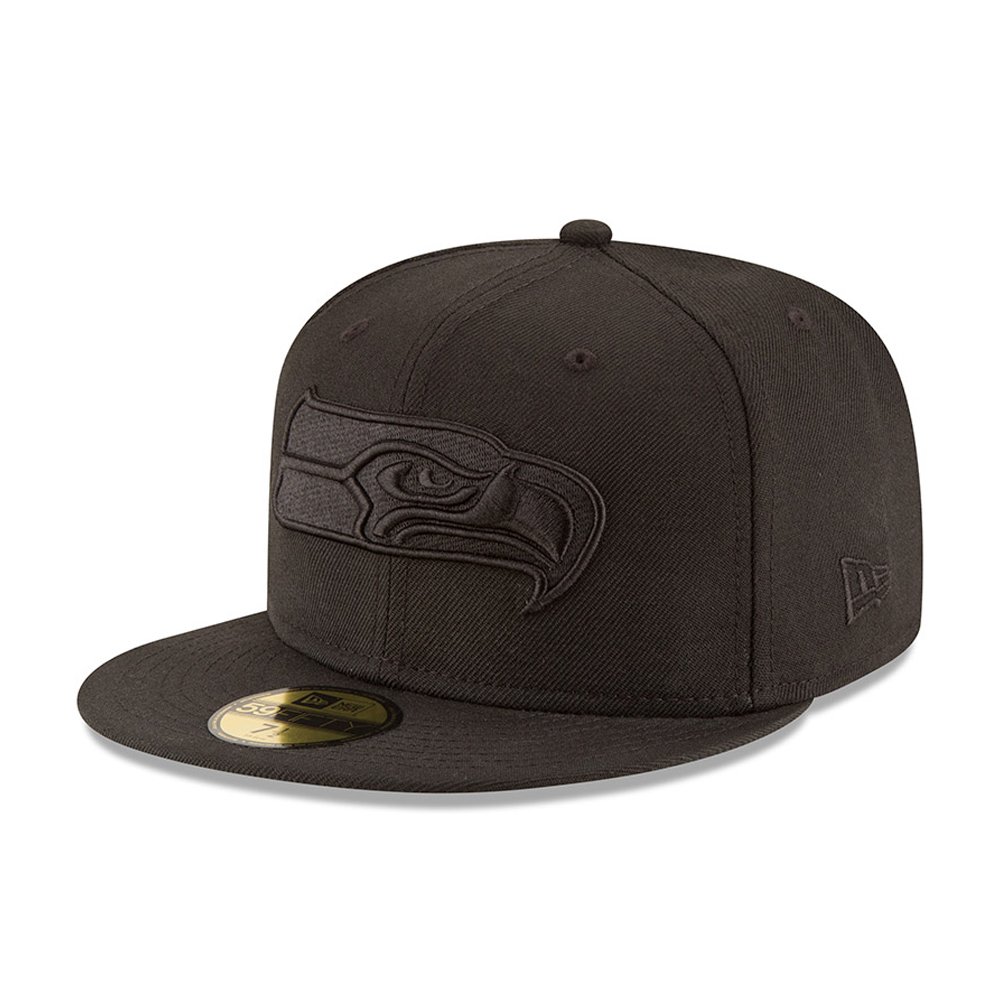 Casquette Seattle Seahawks Black on Black 59FIFTY