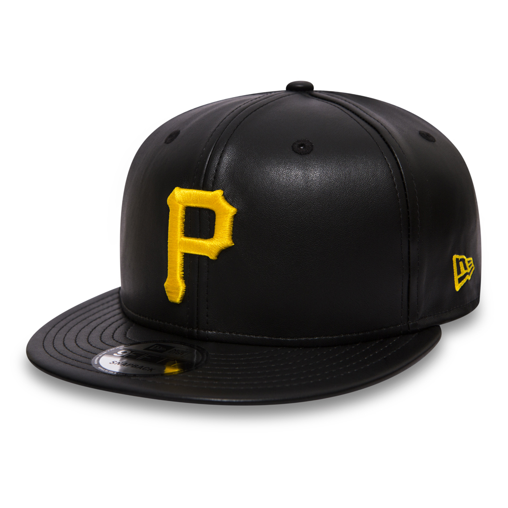 Pittsburgh Pirates Black Leather 9FIFTY Snapback