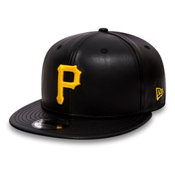 Pitsburgh Pirates Black Leather 9FIFTY Snapback