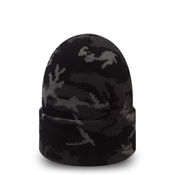 New Era Black and Grey Camo Cuff Knit
