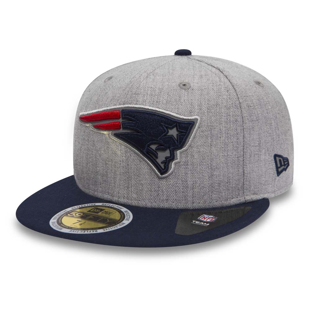 New England Patriots Essential 59FIFTTY gris chiné
