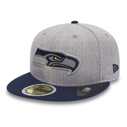 Seattle Seahawks Reflective 59FIFTY gris chiné