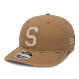 purchase cheap 7741b 22628 Seattle Pilots Canvas Coop Khaki Low Profile 9FIFTY Strapback