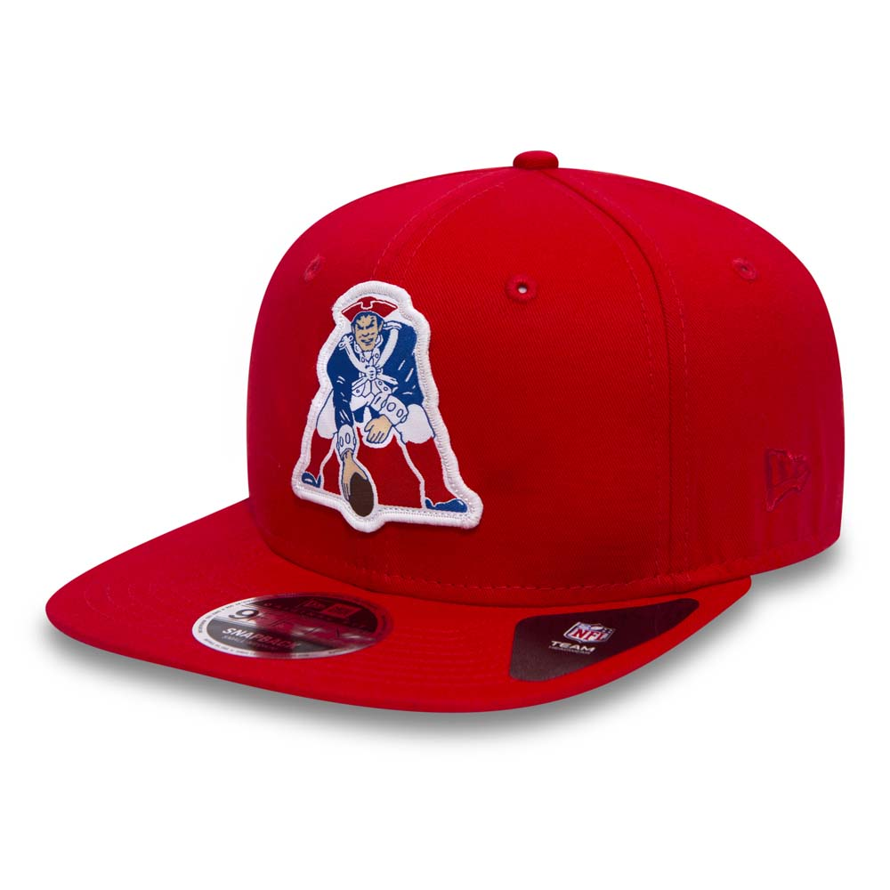 New England Patriots Patch Original Fit 9FIFTY Red Snapback