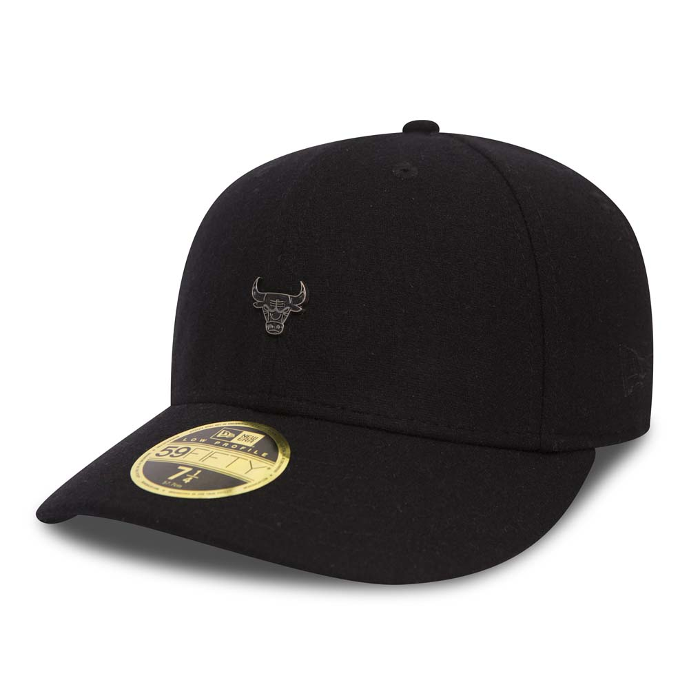 Chicago Bulls Pin Badge Black Low Profile 59FIFTY