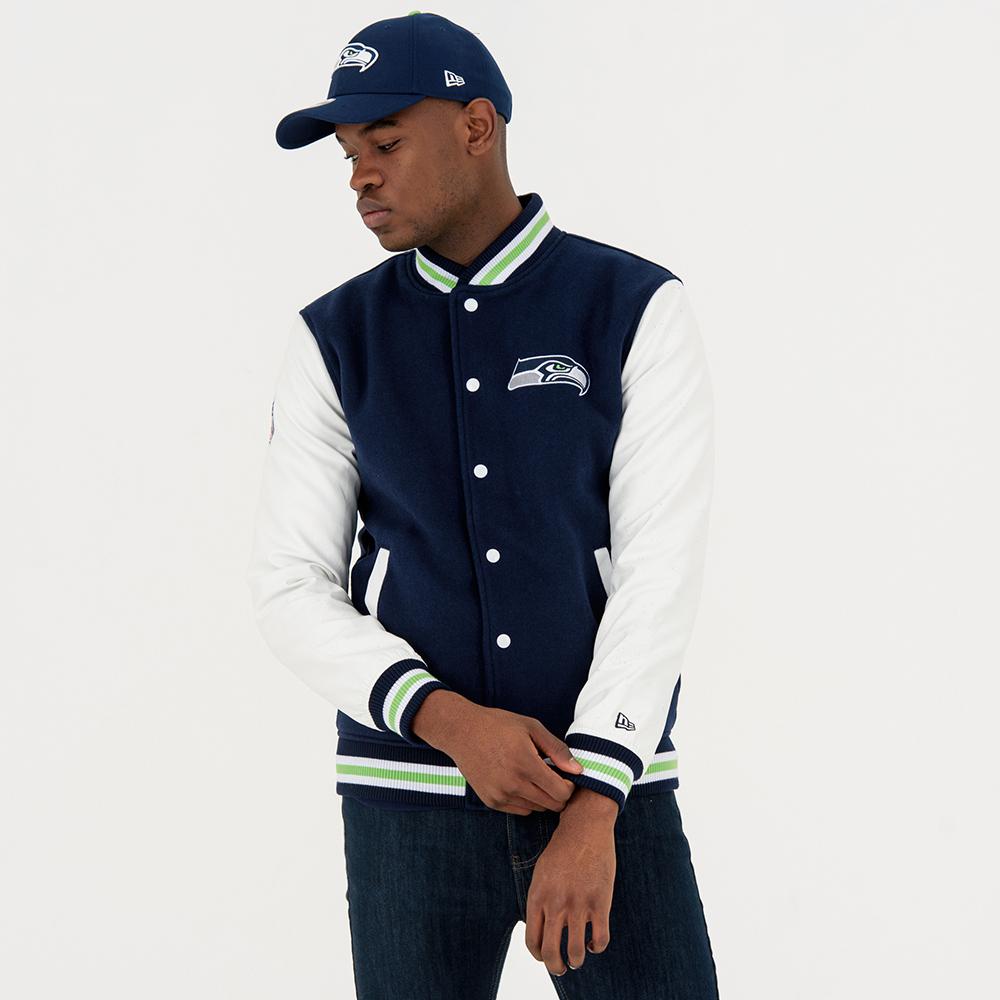 Seattle Seahawks – Varsity-Jacke – Marineblau und Weiß