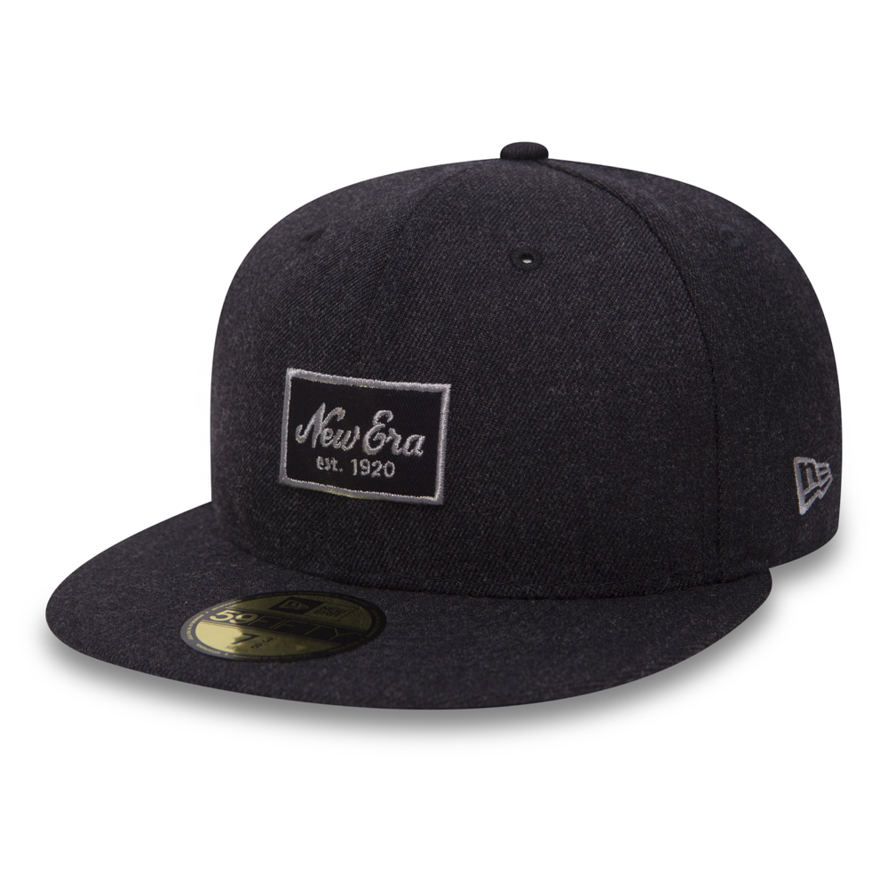 76b9dddaa07 New Era Script Heather Navy 59FIFTY