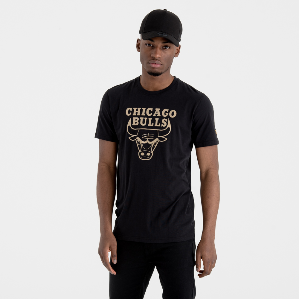 Chicago Bulls Black 'N' Gold Graphic Tee