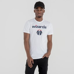 T-shirt Washington Wizards blanc avec logo de l'équipe