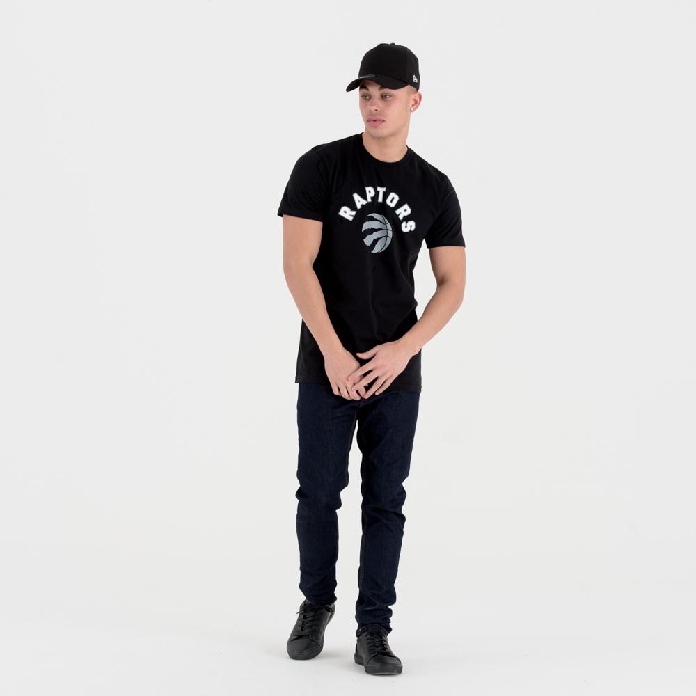 T-shirt Toronto Raptors noir avec logo de l'équipe