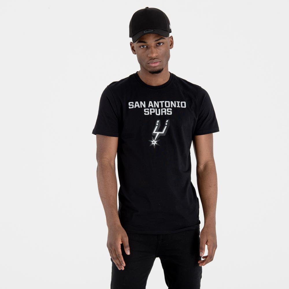 San Antonio Spurs – T-Shirt mit Teamlogo – Schwarz