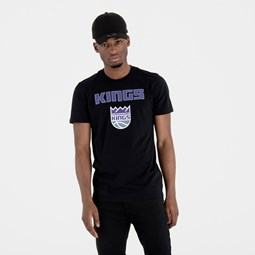Camiseta Sacramento Kings Team Logo, negro
