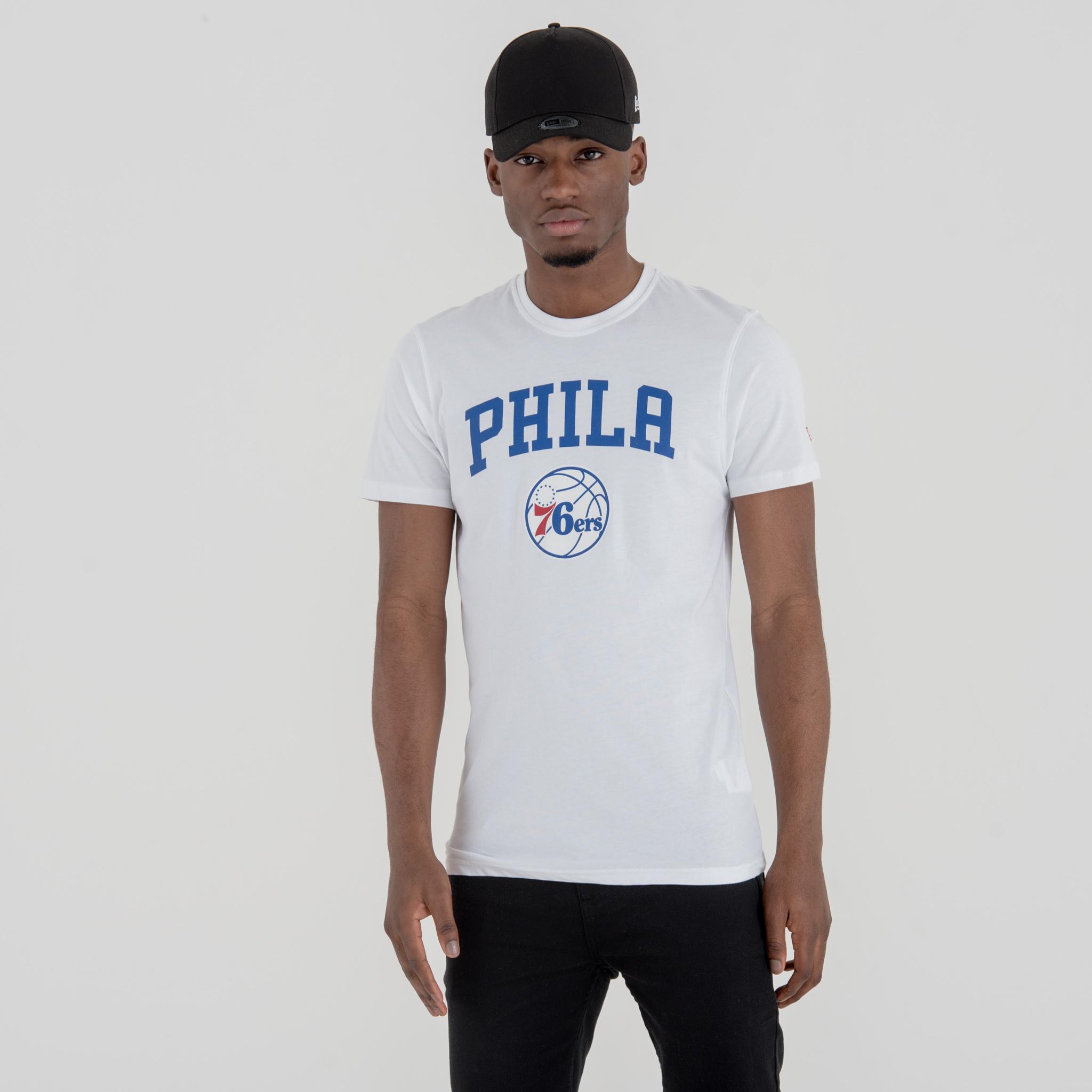 T-shirt Philadelphia 76ers blanc avec logo de l'équipe