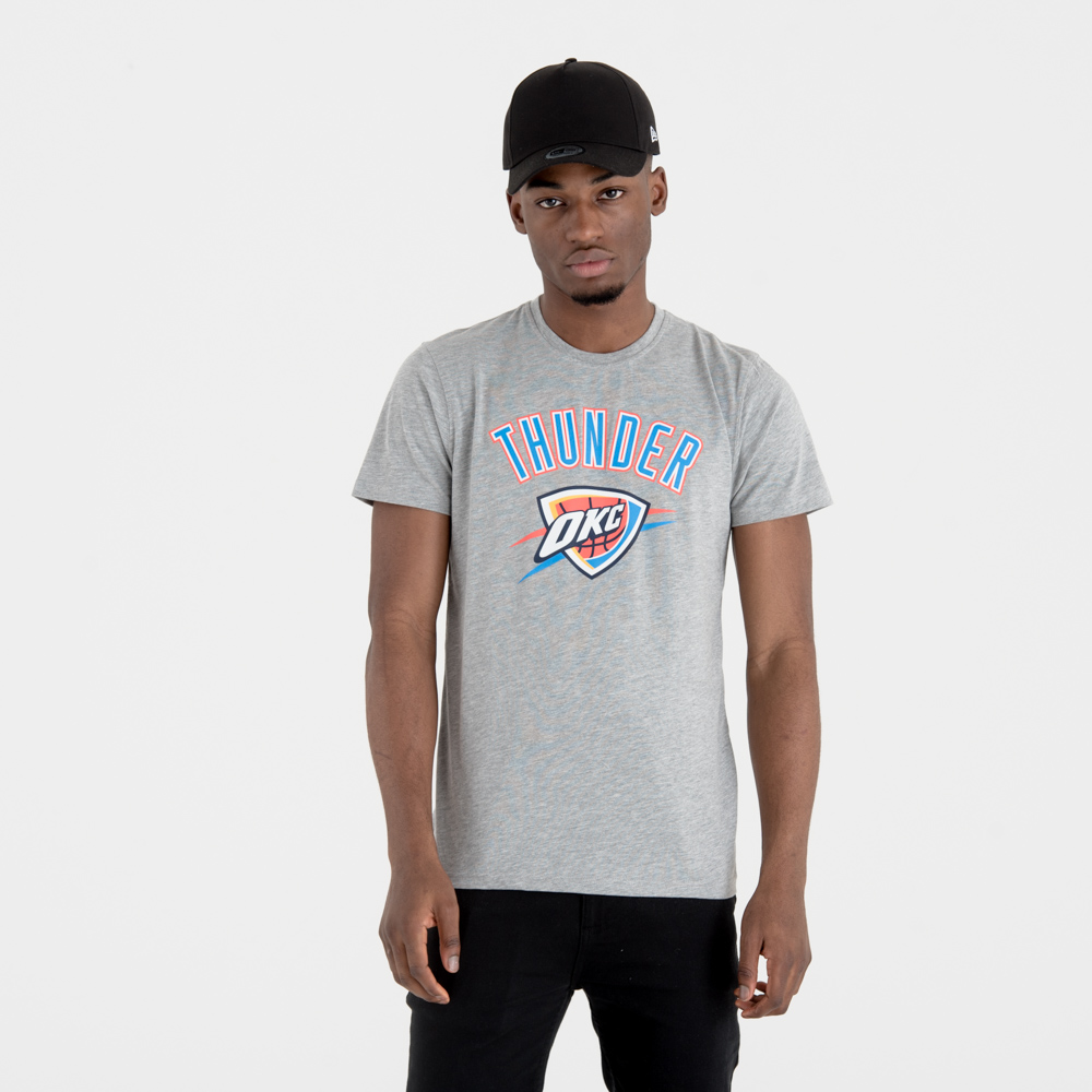 Oklahoma City Thunder Team Logo Grey Tee