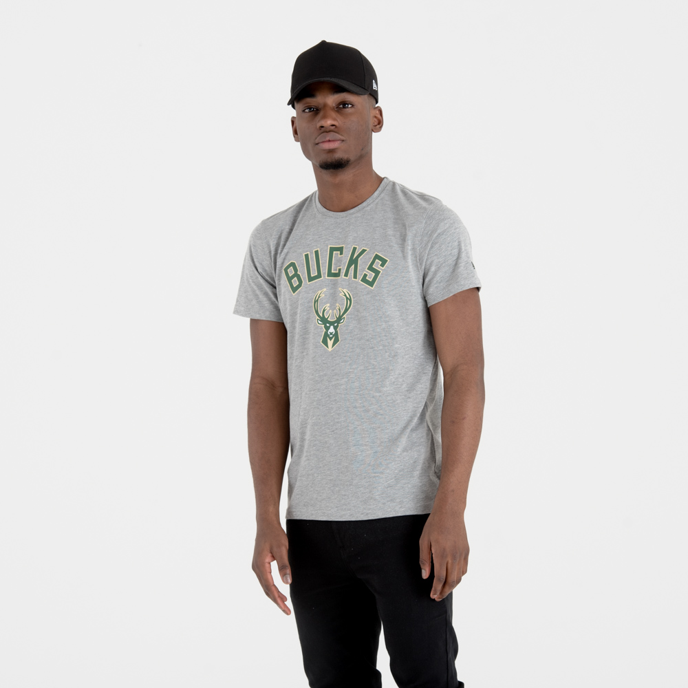 Milwaukee Bucks Team Logo Grey Tee