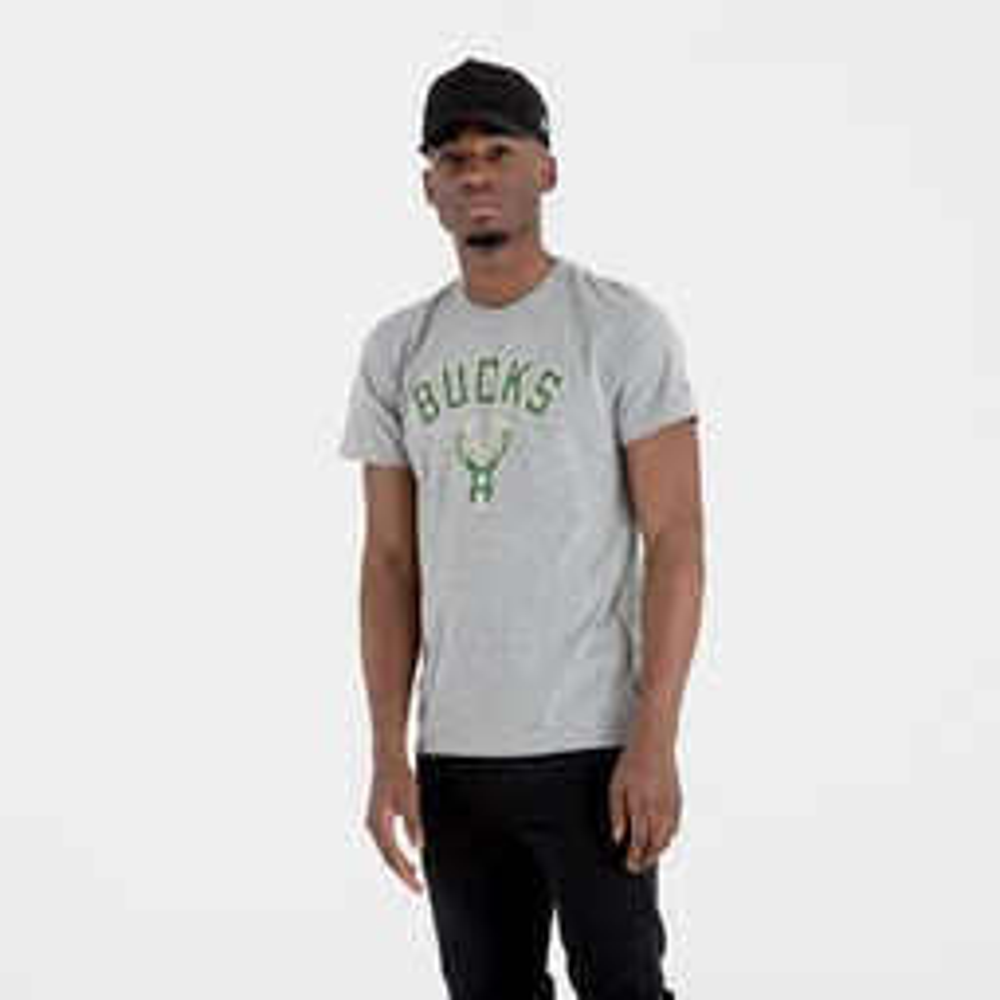 Camiseta Milwaukee Bucks Team Logo, gris