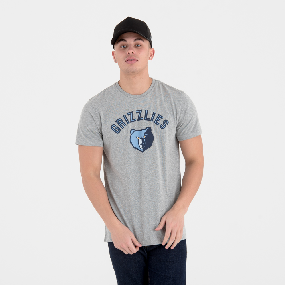 Memphis Grizzlies Team Logo Grey T-Shirt