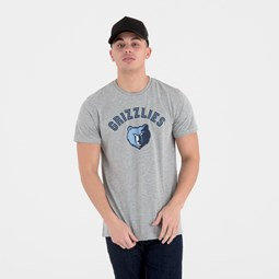 Memphis Grizzlies Team Logo Grey Tee