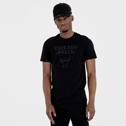 Chicago Bulls Team Logo Black Tee