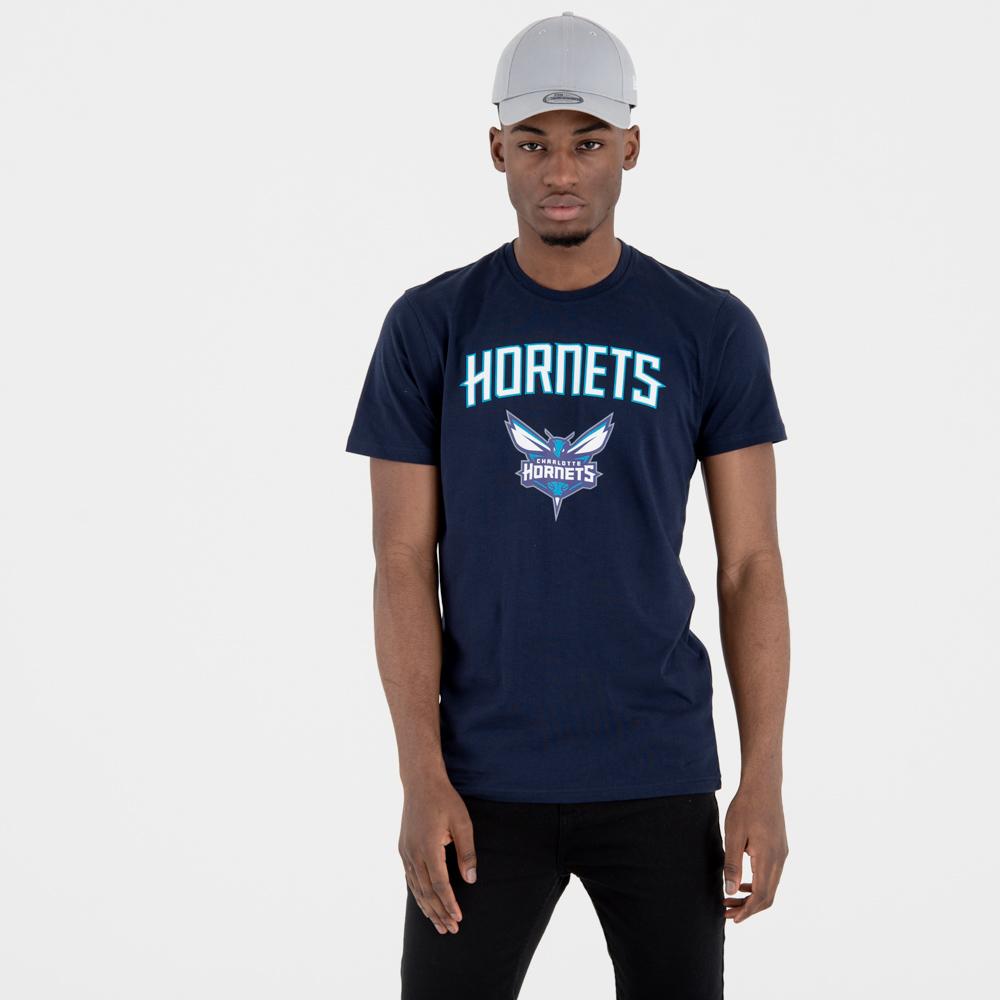Camiseta Charlotte Hornets Team Logo, azul marino