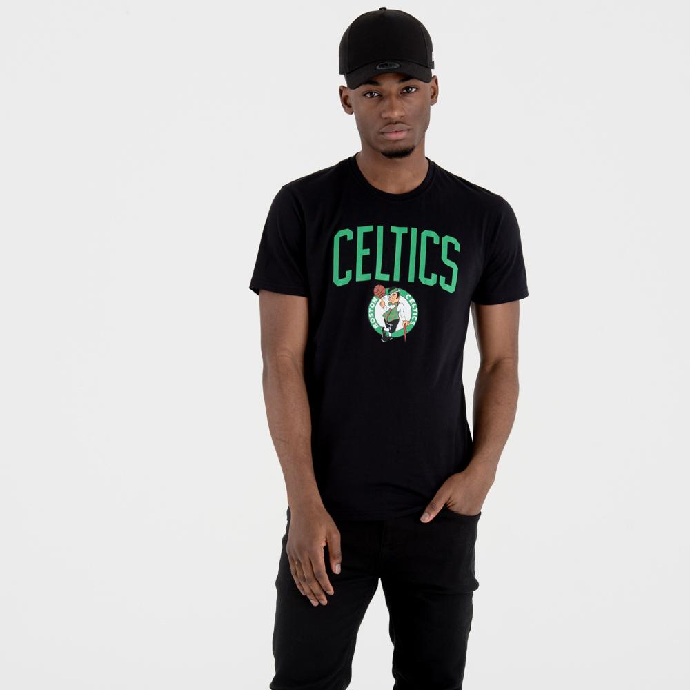 Boston Celtics – T-Shirt mit Teamlogo – Schwarz