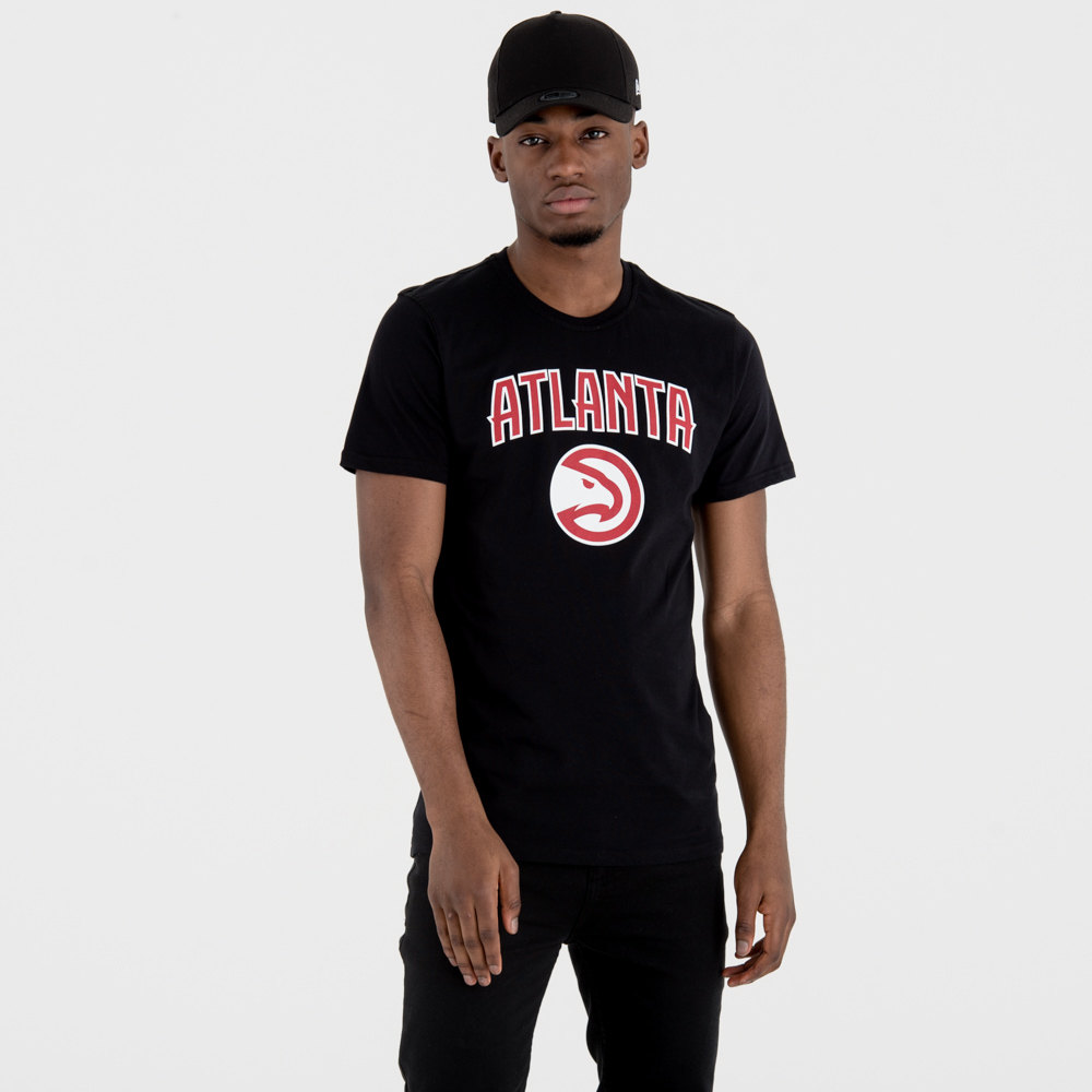 Atlanta Hawks Team Logo Black Tee