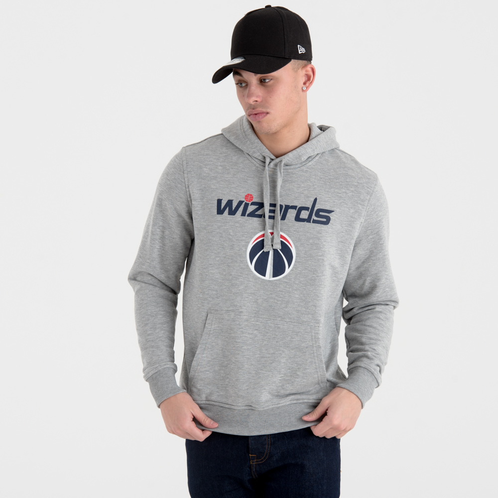 Felpa chiusa con cappuccio Washington Wizards Team Logo grigia