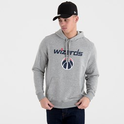 Sweat à capuche Washington Wizards gris avec logo de l'équipe