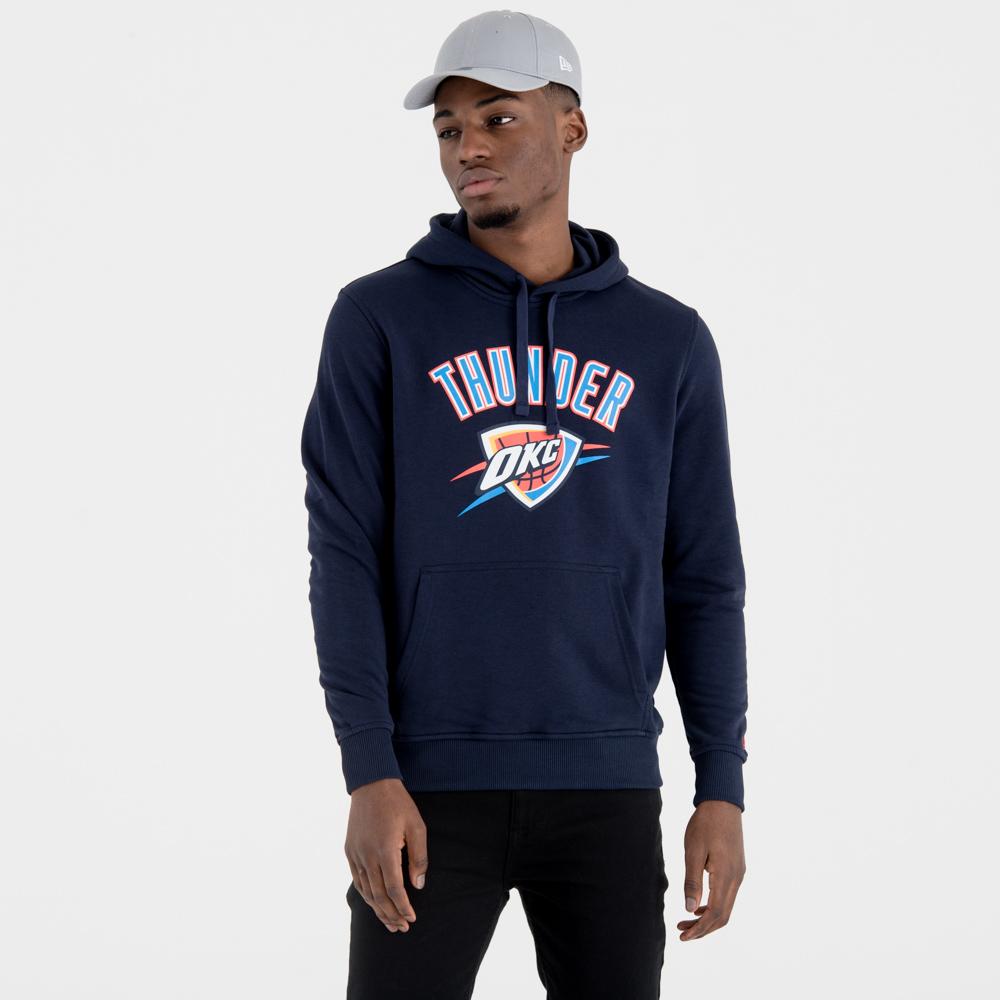 Felpa chiusa con cappuccio Oklahoma City Thunder Team Logo blu navy