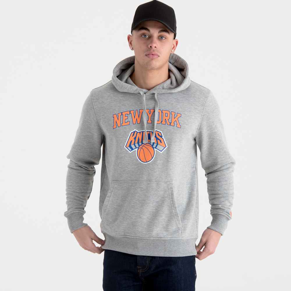 New York Knicks – Hoodie mit Teamlogo – Grau
