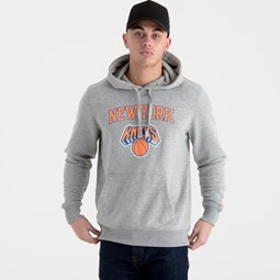 New York Knicks Team Logo Grey Pullover Hoodie