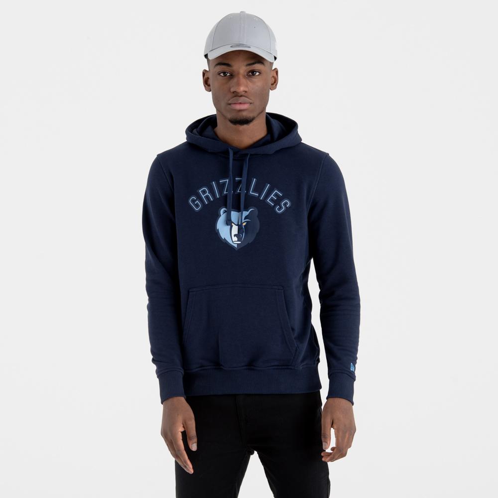 Sweat à capuche Memphis Grizzlies bleu marine avec logo de l'équipe