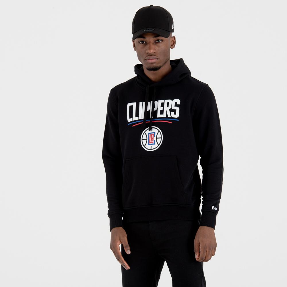 Los Angeles Clippers – Kapuzenpullover mit Teamlogo – Schwarz