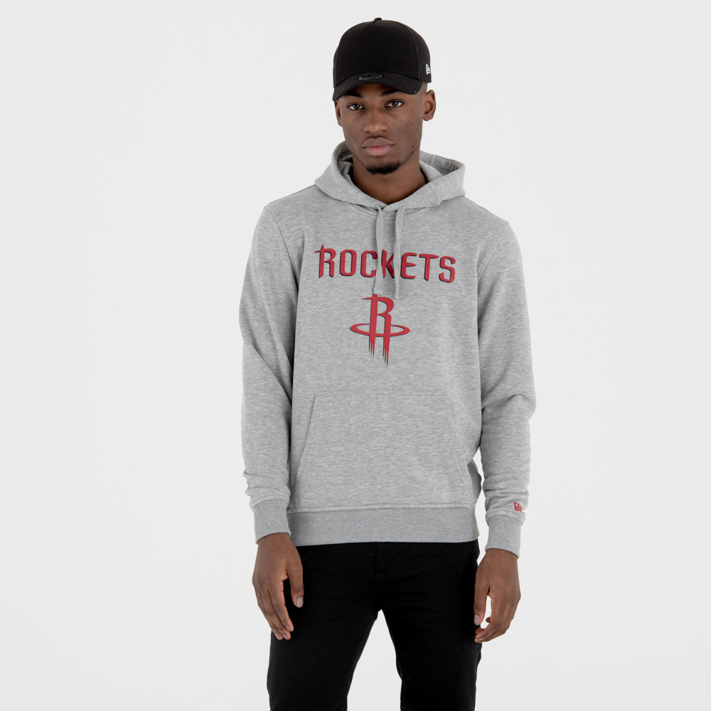Houston Rockets Team Logo Grey Pullover Hoodie