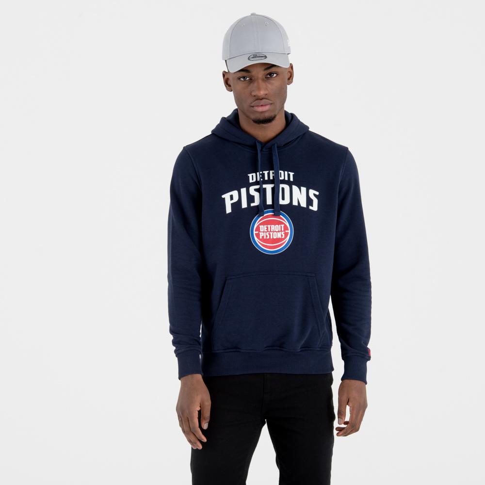 Sudadera estilo pulóver Detroit Pistons Team Logo, azul marino